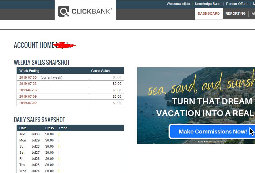 new account clickbank