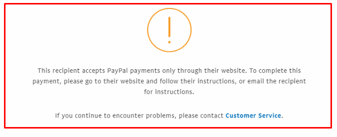 this person receives payment only on their website